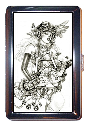 Steampunk Sexy Babe Victorian HOT STUFF! ID Wallet or Cigarette Case USA (Steampunk Babes)