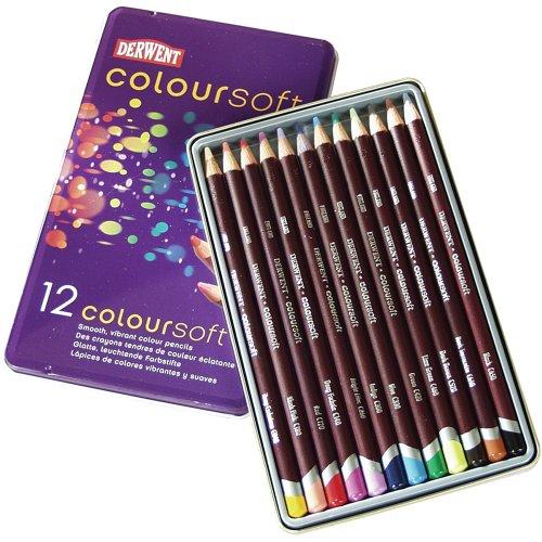 (Derwent Coloursoft Pencil Tin, Assorted)