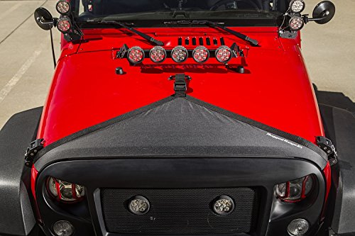 Rugged Ridge 12112.01 Hood Bra (Black 07-up Jeep Wrangler JK/JKU)