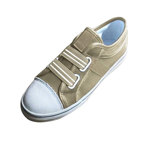 Luckycat Lona Zapatos Planos Mujer Brogue Zapato Talón Lona ...