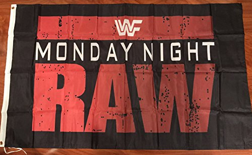WWF World Wrestling Federation Monday Night Raw 3'x5' flag banner- WCW, WWF, WWE -