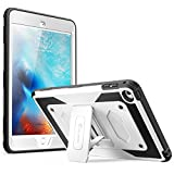 iPad Mini 4 Case, [Heave Duty] i-Blason Apple iPad Mini 4 2015 Armorbox [Dual Layer] Hybrid Full-body Protective Kickstand Case with Front Cover and Built-in Screen Protector / Bumpers (White)