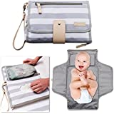 Portable Changing Pad Baby Diaper Station   Newborn Clutch Bag Travel Kit   BPA Free Waterproof Foldable Mat   Wipes Pocket   Infant Registry Shower Gift