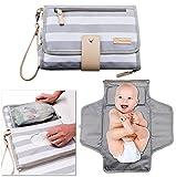 Portable Changing Pad Baby Diaper Station | Newborn Clutch Bag Kit | BPA Free Waterproof Foldable Mat | Custom Wipes Pocket | Infant Registry, Shower Gift