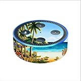 Skin Decal Vinyl Wrap for Amazon Echo Dot 2 (2nd generation) / Beach Water Palm Trees
