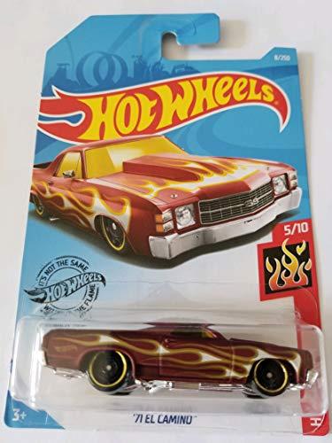 Hot Wheels 2019 Hw Flames - '71 El Camino, Maroon 8/250