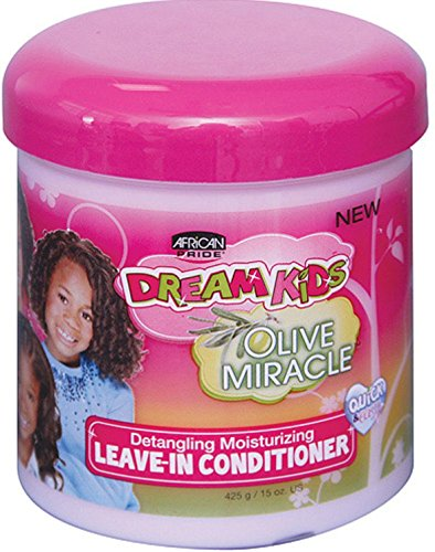 African Pride Dream Kids Leave-In Conditioner, Olive Mira...