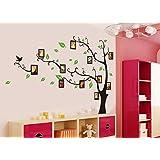 Syga 'Aroma Shop Trees with Photo Frames' Wall Sticker (PVC Vinyl, 61 cm x 5 cm x 5 cm)