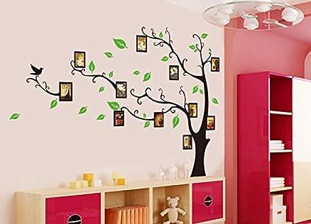 Syga U0027Aroma Shop Trees With Photo Framesu0027 Wall Sticker (PVC Vinyl, 61 Part 51