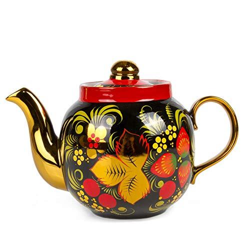 Khokhloma Electric Samovar Set with Tray & Teapot Russian Samovar Tea Maker by Tula (Image #3)