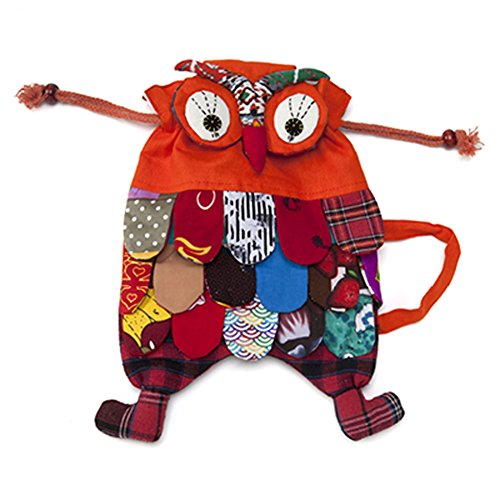 Holly The Owl Child Costumes (Toddler Children Boys Girls Kindergarten Pre School Orange Owl Backpack Knapsack)