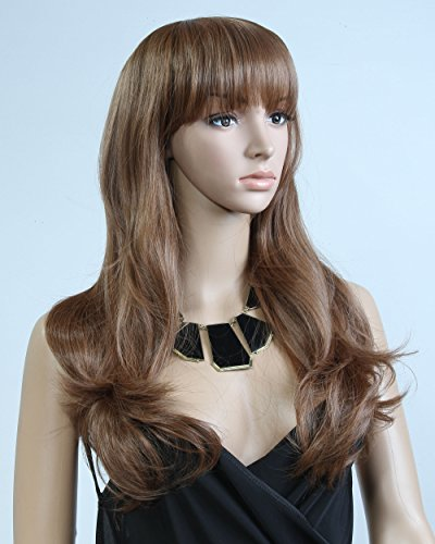 "Cool2day® Fancy 25"" Long Wavy Healthy Hair Party Full Wig+wig Cap (Model: Jf010321) (Light Brown)"