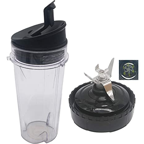 replacement parts Nutri Blender Pro Extractor Blades and 16oz.Cup with Sip & Seal Lid for Nutri Ninja Blender BL770A 30/ BL770 30/BL773CO 30/BL771 ...