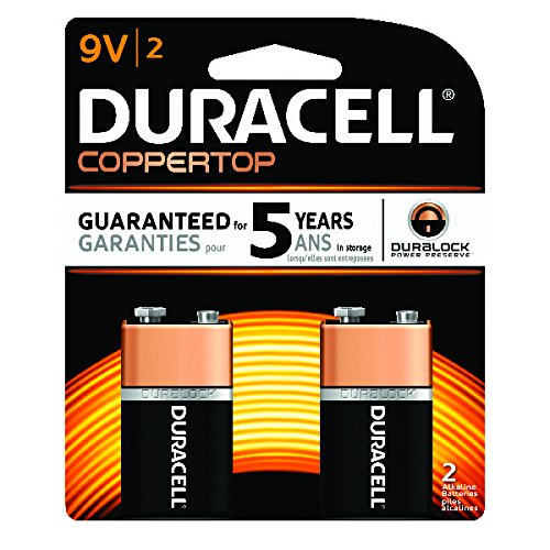 Price comparison product image Duracell Coppertop Alkaline 9v,  2 Count