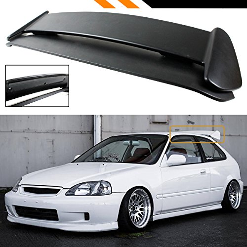 FOR 1996-2000 CIVIC EK EK9 3DOOR HATCHBACK TYPE-R STYLE ROOF SPOILER WING W/ SMOKE LED ()