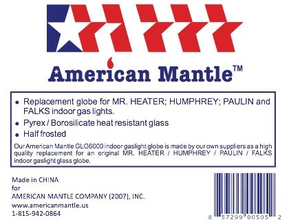 Replacement Globe for Humphrey / Paulin / Mr. Heater / Falks Gas Lights by American Mantle (Image #2)