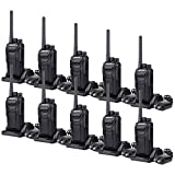 Retevis RT27 Walkie Talkies Rechargeable Long Range for Adults Encryption Security Heavy Duty Two-Way Radios (Black,10 Pack)