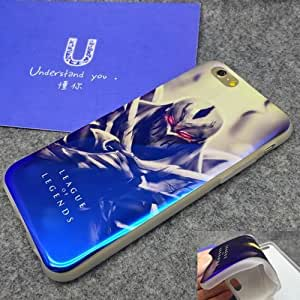 The best gift for Christmas and Easter Mirror Effect Blue Soft Gel TPU Silicone Cover iPhone 6 4.7 inch Cell Phone case League of Legends Zed GIF8413376
