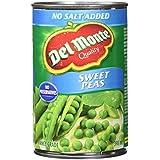 Del Monte Sweet Peas No Salt Added, 398 ml, Pack of 12