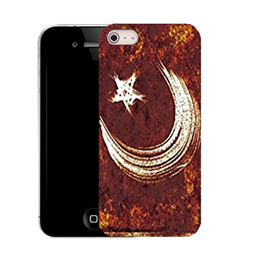 Mobile Case Mate IPhone 4 clip on Silicone Coque couverture case cover Pare-chocs + STYLET - moon star pattern (SILICON)