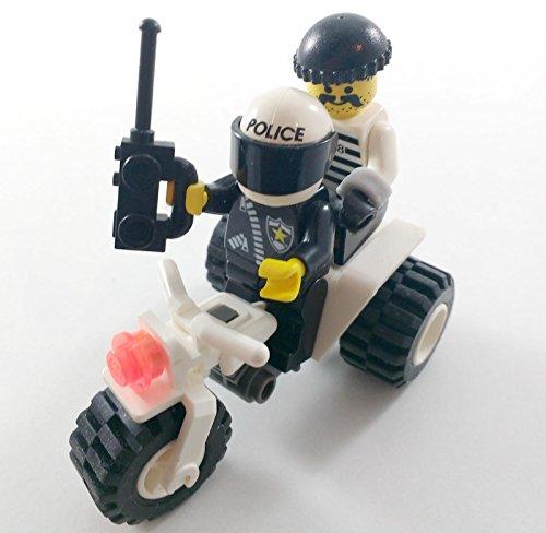 Lego COP and ROBBER MINIFIGURES + ATV VEHICLE Policeman Burglar
