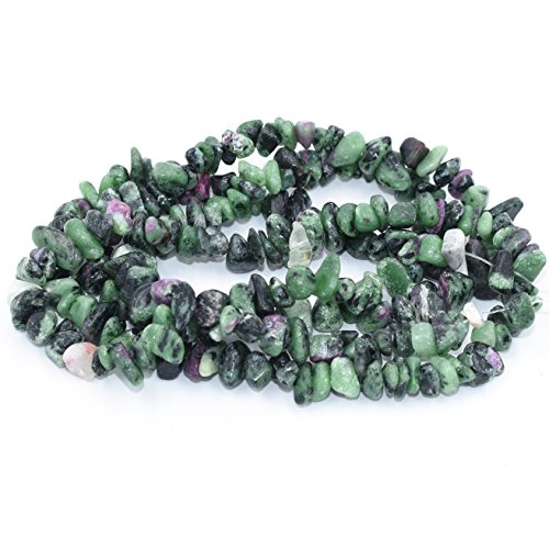 AAA Natural Red Green Agate Chipbeads Freeform Chips Strand for Jewelry Making Necklace / Bracelet / Earring / Keychain Tumbled Gemstone by Asingeloo ()