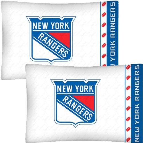 NHL New York Rangers Hockey Set of 2 Logo Pillow Cases
