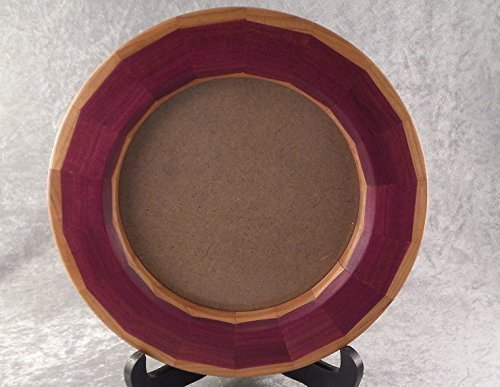 Round Segmented Picture Frame using beautiful Purpleheart and Cherry - Frame Tim Design
