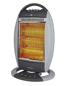 Orbegozo BP 6000 A – Estufa halógena con movimiento oscilante, 1200 W de potencia, 3 niveles de funcionamiento