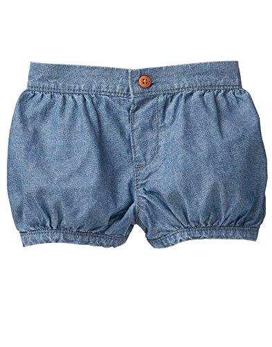 Gymboree Baby Girls Bloomer Shorts, Chambray, 6-12 ()