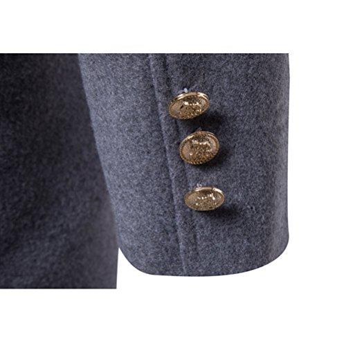 Jacket Buttoned down Black Boys Collar Zhhlinyuan Windbreaker Overcoat Long Coat Blazer Turn Trench Soft Junior Mens Winter wXwq0PU