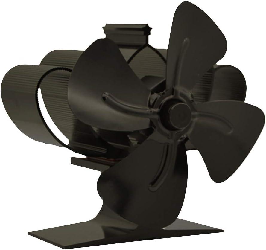 ILS – Ventilador para chimenea, ventilador de 4 aspas termochimenea para quemador de troncos de madera, ventilador ecológico silencioso de aire caliente ultra silencioso