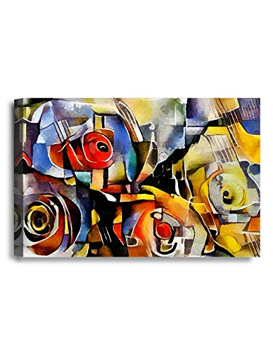 Ipic   A Bouquet Of Beautiful Flowers  Oil Painting In Picasso Style  Giclee Print On Canvas Wall Art For Home Decor  36X24x1 5