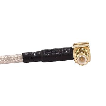 Amazon.com: eDealMax UHF-J Macho a MCX-JW Male RG316 Cable coaxial Flexible de conexión 20 cm: Electronics