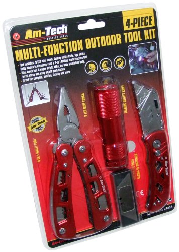 Am-Tech Multifunction Outdoor Toolkit (4 Pieces)
