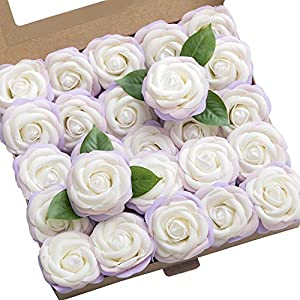 Ling's moment Artificial Gardenia Flowers w/Stem for DIY Wedding Bouquets Centerpieces Arrangements Party Baby Shower Home Decorations 6