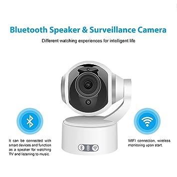 Cámara IP, 1080P HD WiFi IP CAM Vigilancia Sistema De Seguridad Grabación De Vídeo Reconocimiento Sónico, Movimiento Remoto Detectar Alerta con Soporte De ...