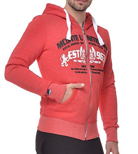 Shirt Moul con Men Sweat Red hombre Chaqueta M Raul Conte sudadera capucha t6RSUwvAqx