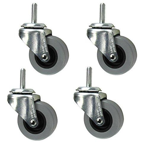2'' Caster - 5/16'' Threaded Stem - Non Marking Polyurethane Wheel - Set of 4