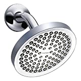 Rainfall Shower Head - High Pressure Water - Luxury Chrome Finish - 6'' Showerhead - Adjustable Brass Ball Joint - Bring The Spa To Your Home