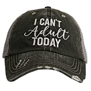 I Can't Adult Today Women's Trucker Hat Cap by Katydid