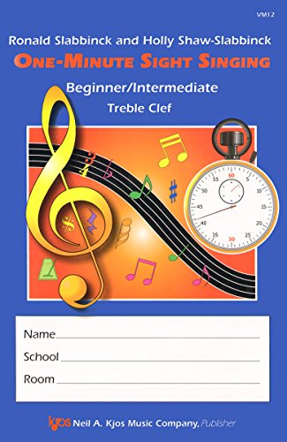 VM12 - One-Minute Sight Singer - Beg./Int. Treble Clef