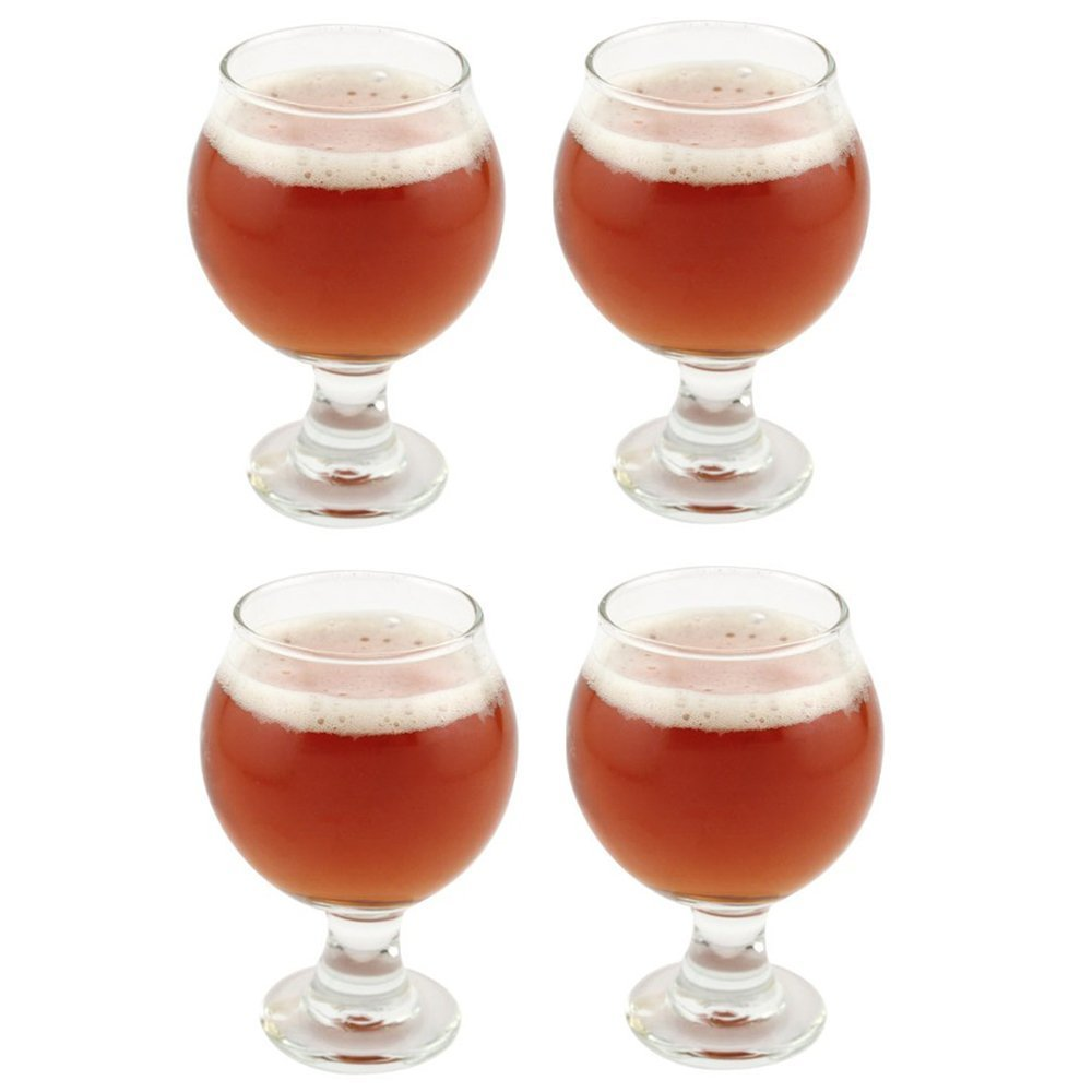 Libbey Belgian Beer Taster Glass 5 oz - 4 Pack w/ Pourer 3816