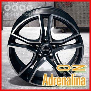 OZ XLINE ADRENALINA 16×7.0J PCD100/4H +37 マットブラックポリッシュ [アドレナリーナ](ホイール1枚) B01E6FNAEC