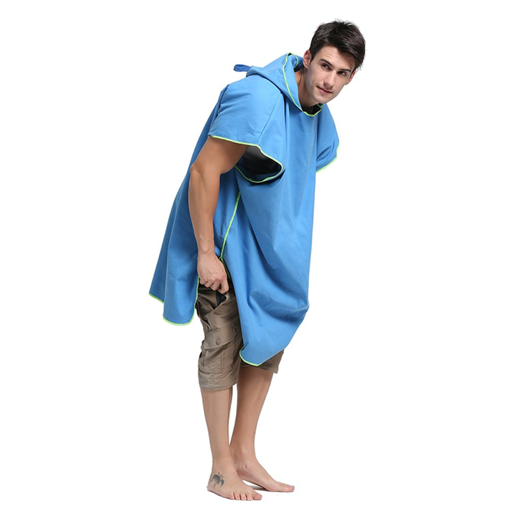 Amazon.com: MINGPINHUIUS Hooded Bathrobe Towel for Adults Women Mens 8 Pure Colors Optional Swim Towels Poncho Quick Dry Beach Changing Robe, Standard Size ...