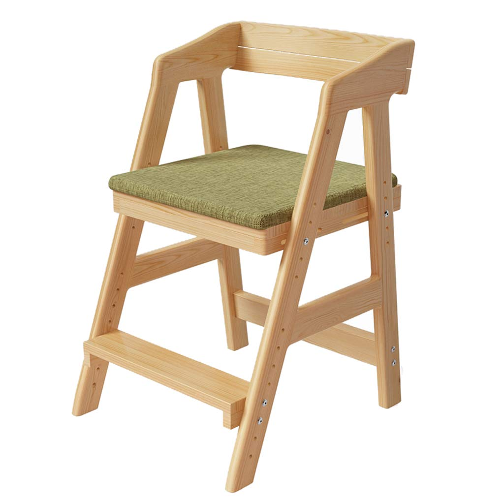 家/コンピュータテーブル/ダイニングテーブルのための座席の姿勢を修正して折り返しを防ぐための調節可能な子供の勉強椅子、持ち上がることおよび人間工学的の設計 B07TDWKVDL green