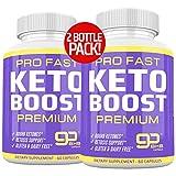 (2-Pack) Ultra Fast Pro Keto Boost 1600mg - Keto Pills for Keto Diet - Exogenous Ketones Supplement for Men and Women - Metabolism Support, Energy & Focus Supplement - Keto Supplement - 60 Day Supply