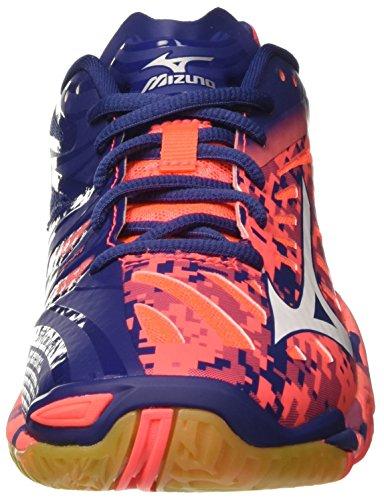 Mizuno Wave Mirage, Scarpe da Tennis Uomo Multicolore (Fierycoral/White/Twilightblue)