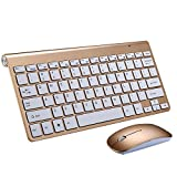 OfficeLead Wireless Keyboard and Mouse Cambo Full-size Whisper-quiet Wireless Keyboard and Mouse for Desktop and Mac in Ergonomic Design