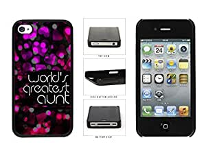 World's Greatest Aunt Plastic Phone Case Back Cover Apple iPhone 4 4s